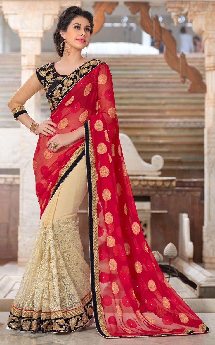 Maroon Viscose Jacquard Wedding Saree 65822