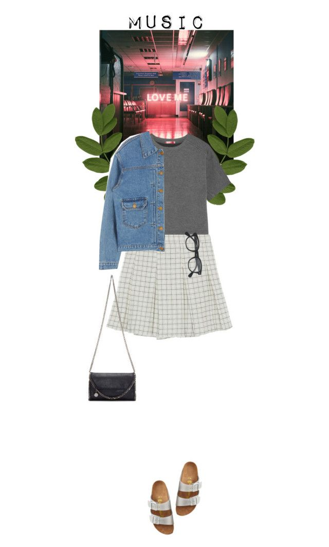 """The 1975's"" by dancingwithyou ❤ liked on Polyvore featuring T By Alexander Wang, Birkenstock, J.Crew, STELLA McCARTNEY and musicplaylist"
