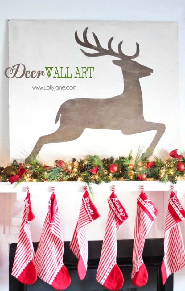 Christmas Wall Art 150 best reindeer images on pinterest | christmas ideas, christmas