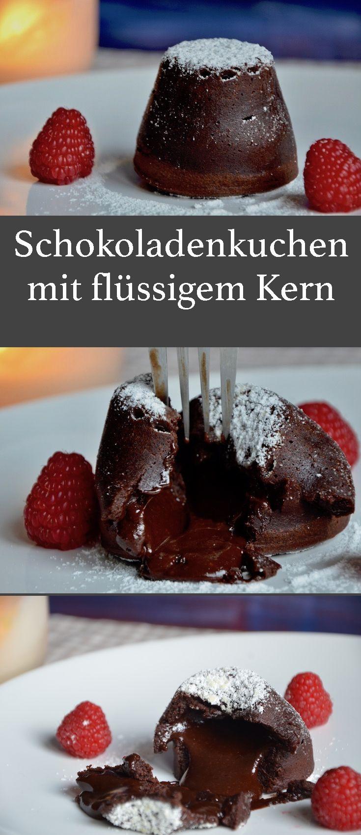 Das perfekte Weihnachtsdessert! Dieser Schokoladenkuchen oder Lava Cake ist extrem lecker und das beste ist, es geht auch noch einfach!