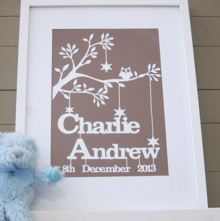 48 best personalised gifts for babies images on pinterest personalised baby boy birth date papercut keepsake by dimple lane 45 free shipping within negle Choice Image