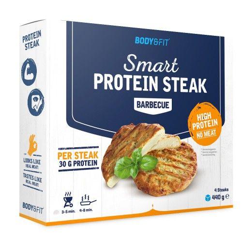 Let je op voeding? Sport je fanatiek? Volg je een low carb- eiwitdieet? Wil je vaker bewust eten? Dan zijn onze Smart Protein Steaks jouw nieuwe favoriet. De innovatie van 2016 en de betere keuze voor iedereen!  Rijk aan eiwitten, bouwstoffen en bron van vezels Volwaardige vervanging van vlees of vis. Eiwitten ondersteunen sterkere spieren, instandhouding van spiermassa en herstel Waanzinnig lekker, op smaak gebracht met de lekkerste kruiden en specerijen Tip voor sporters en past in elk…