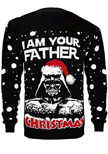 Starwars Kersttrui.Vanilla Inc Darth Vader Star Wars I Am Your Father Christmas Ladies