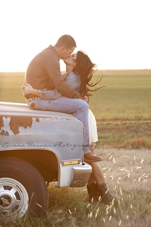 Country Couple Photography Ideas Trucks