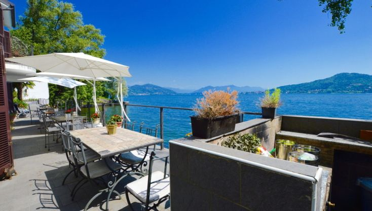 Villa, on the first line from Lake Maggiore, in Meina, Italy.