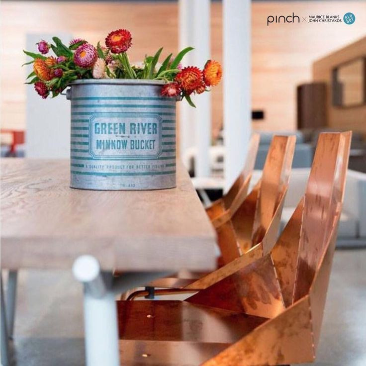 Branch Dinning Table And Copper Real Good Chair By Blu Dot