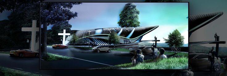 Modern Church Concept - Architecture Portfolio | Archviz