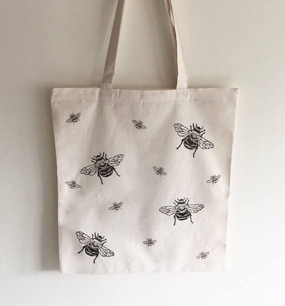 Bumble bee Tote Bag Market bag 100% cotton honey bee