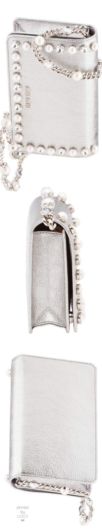 Miu Miu Silver Embellished bag