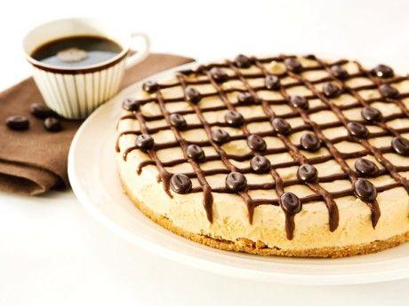 Frusen kaffecheesecake