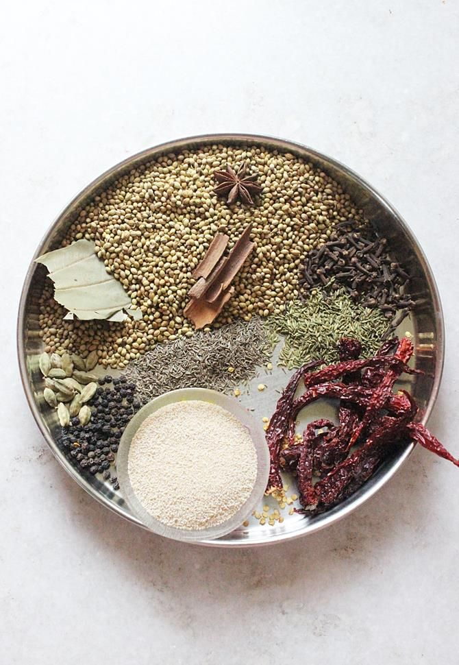 Korma masala powder recipe or kurma masala.This spice powder can be used for vegetable kurma, egg korma or chicken korma curry recipes .Very flavorful and different from the regular garam masala powders. Korma or kurma recipe uses yogurt and or coconut to make a spicy gravy that also uses vegetables or meat in India, Bangladesh …