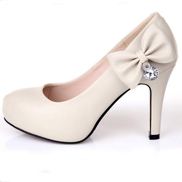 Dresswe.comサプライ品かなりスティレットヒールは足の結婚式の靴をクローズ ウェディングシューズ