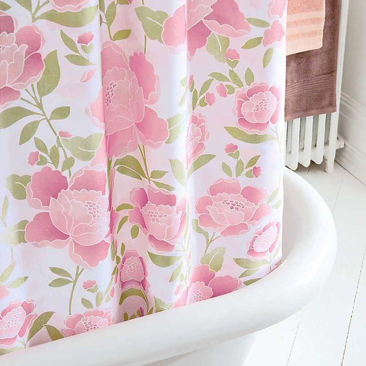 This Morning Rosamund Pink Floral Shower Curtain Hooks