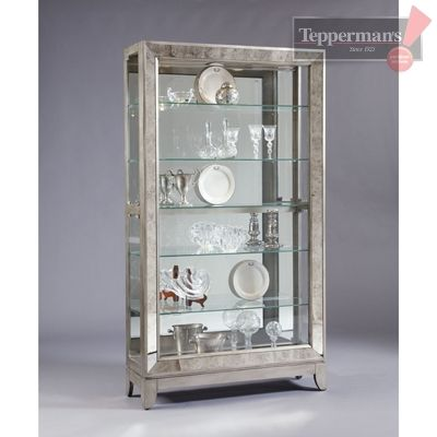 Waverly Platinum Curio Cabinet - Perfect accent to any living space!