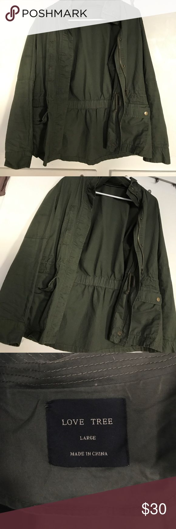 Green Military Jacket Women's Large. In perfect condition. True to size. Jackets & Coats Jean Jackets