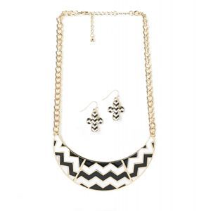 CHEVRON NECKLACE EARRING SET 20% OFF