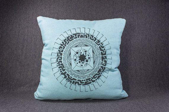 15 by 15 Hand-drawn illustration on pillow Xico by detcraft