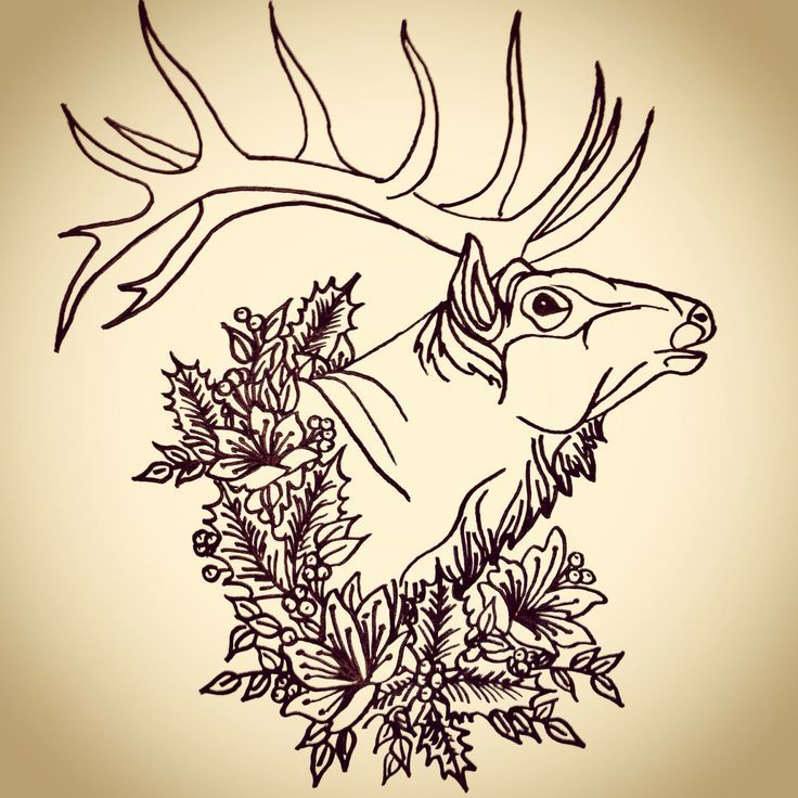 Elk Tattoo Elk tattoo | Tattoos that are cool | Pinterest