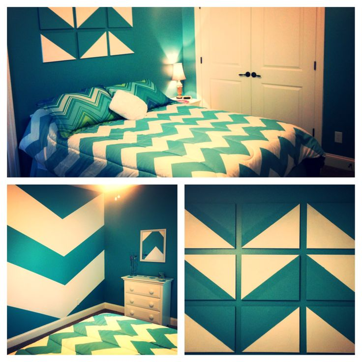 Chevron Teenage Bedroom Room Ideas Pinterest Chevron