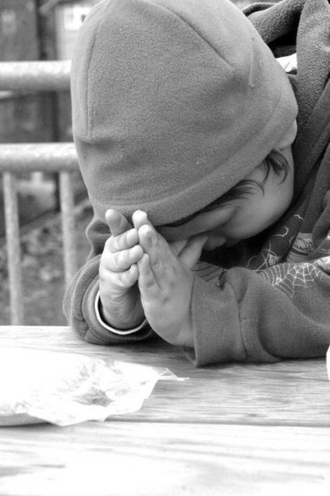 A child who is taught the power of prayer at a young age, beautiful.