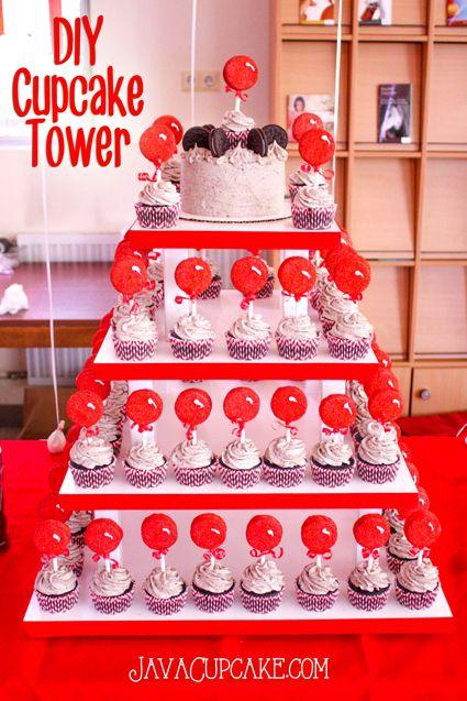 How to make a cupcake tower wedding cake