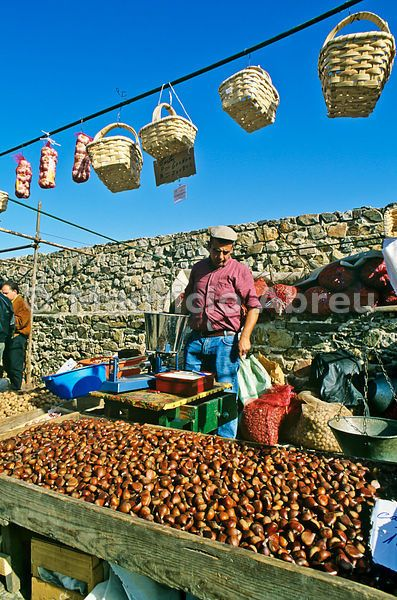 Chestnut fair, Marvão, Alentejo. Portugal