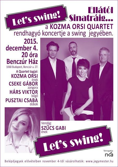 Plakat104.hu: Let's Swing! - Ellától Sinatráig