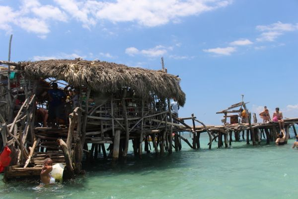Pelican Bar Jamaica - info about how to get there (which is by boat).