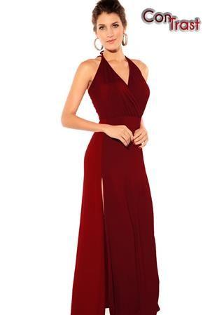 CONTRAST Dlouhé dámské šaty, společenské šaty, plesové šaty
