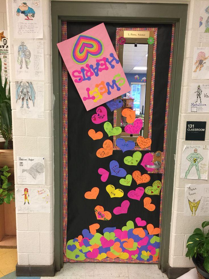 Valentines Day Classroom Door. Sweethearts