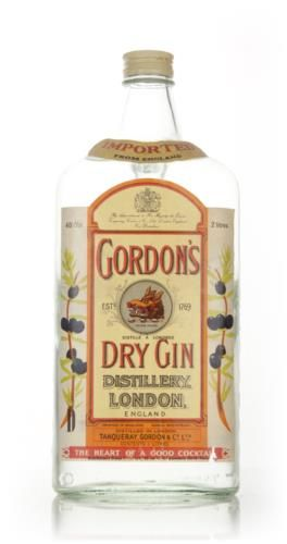 2 litres of gorgeous Gordon's London Dry Gin from the 1970s in one big bottle. We're certain this would made a fantastic centrepiece to an antique gin collection.