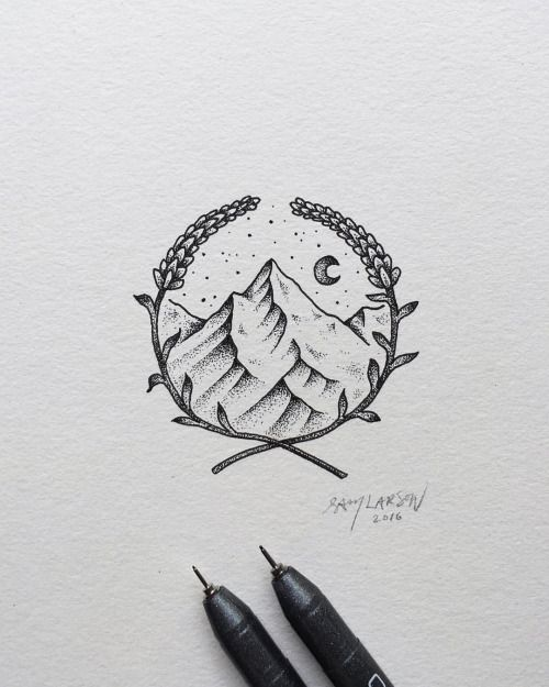 Little one from today. #art #illustration #mountains