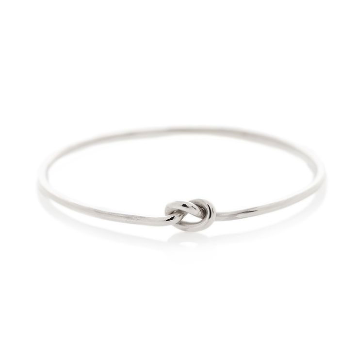 Silver knot bangle | Dear Rae  | Online shop