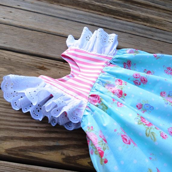 Nelly floral Easter dressGirls Easter floral by SweetWhitePeony