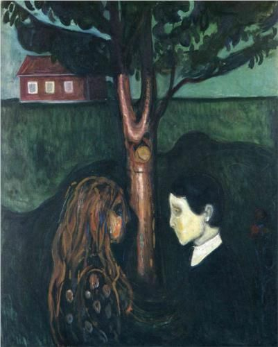 Edvard Munch - Eye in Eye 1894