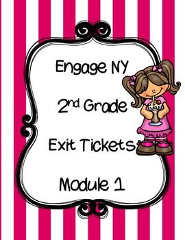 Exit Tickets for Module 1 - 2nd grade.  I have made Engage NY Exit Tickets fit two per page and made them much cuter! I plan on using my in a math journal or Interactive Notebook.  ***IF YOU LIKE THIS PRODUCT PLEASE FOLLOW ME*** :)
