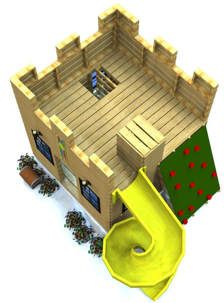 top of wooden castle playhouse plan
