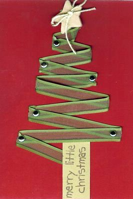 ribbon tree Christmas cards