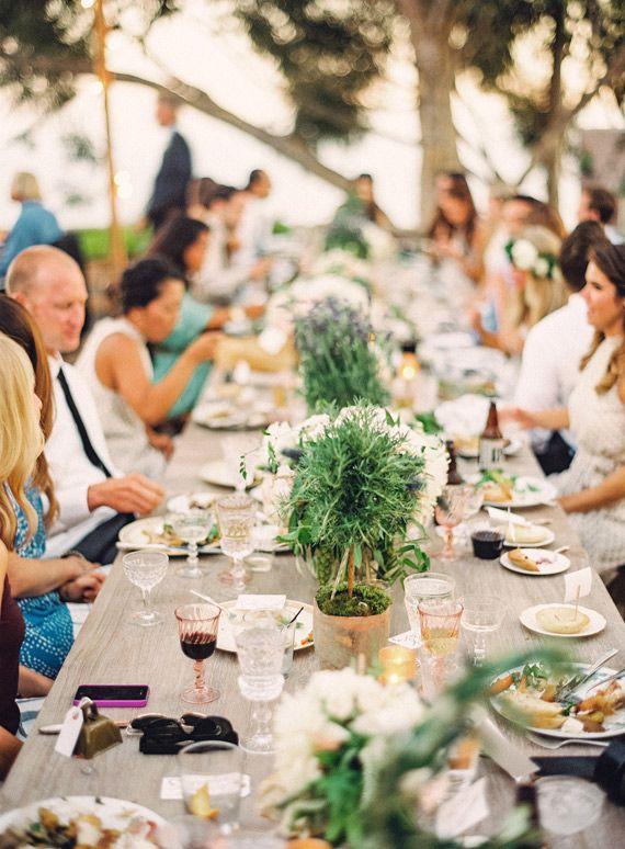 French garden inspired wedding |  Photo by Braedon Flynn | via: 100 Layer Cake