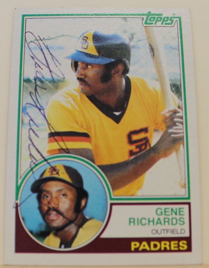 Gene Richards San Diego Padres Autographed 1983 Topps Card