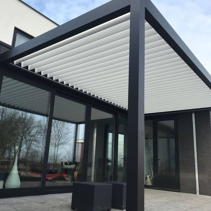 Automatic Retractable Glass Roof Systems | Pergola shade ...