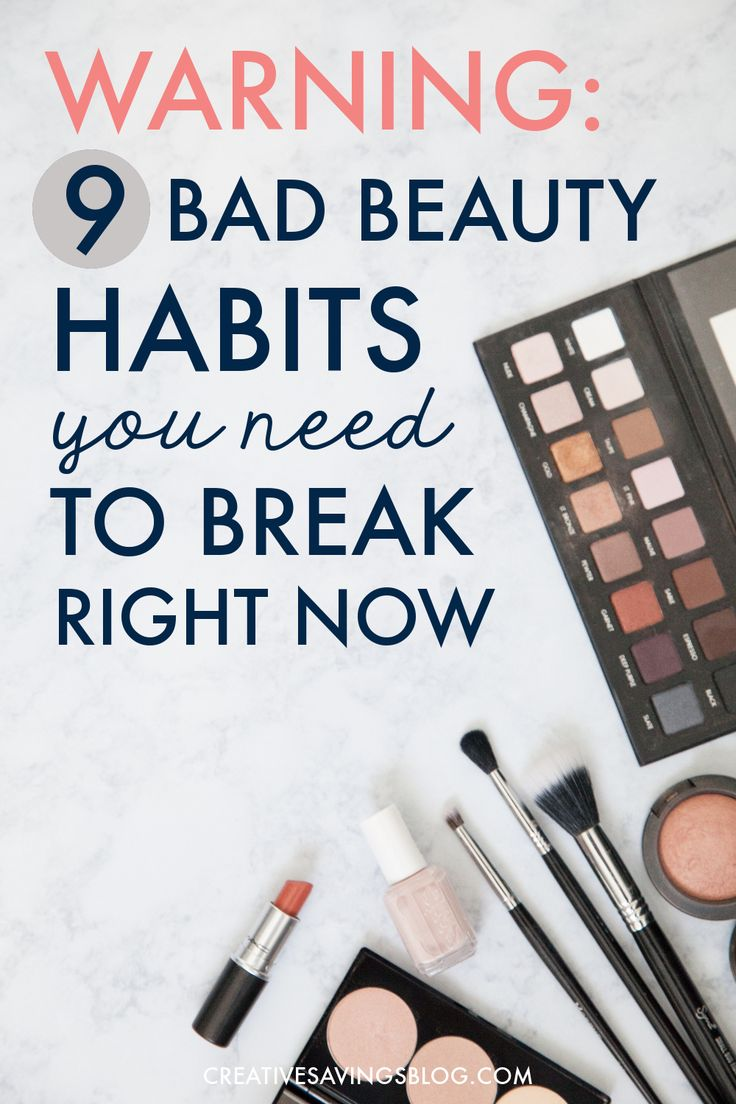 Are you unknowingly practicing one of these beauty no-no's? It's time to break bad habits for good with simple quick fixes you can easily commit to. In the long run, you'll not only fight signs of aging, you'll also look and feel a whole lot healthier!