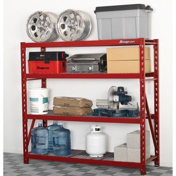 costco snap on 4 shelf storage rack garage storage rack storage shelves garage storage. Black Bedroom Furniture Sets. Home Design Ideas