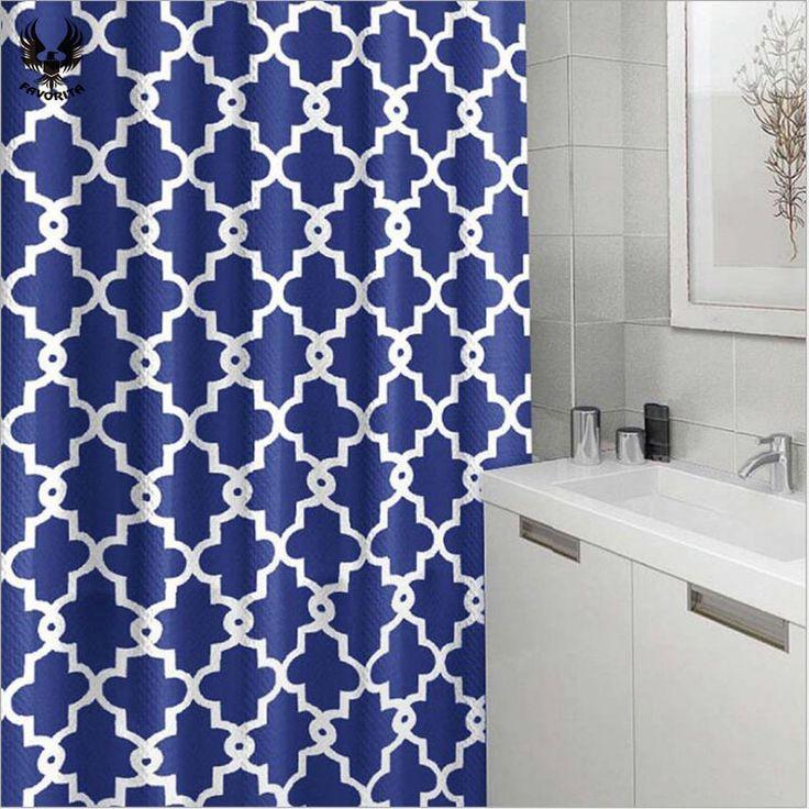 Hot mode Waterdicht douchegordijn 180 cm X 180 cm Dikke polyester streep badkamer gordijnen in                      van   op AliExpress.com | Alibaba Groep