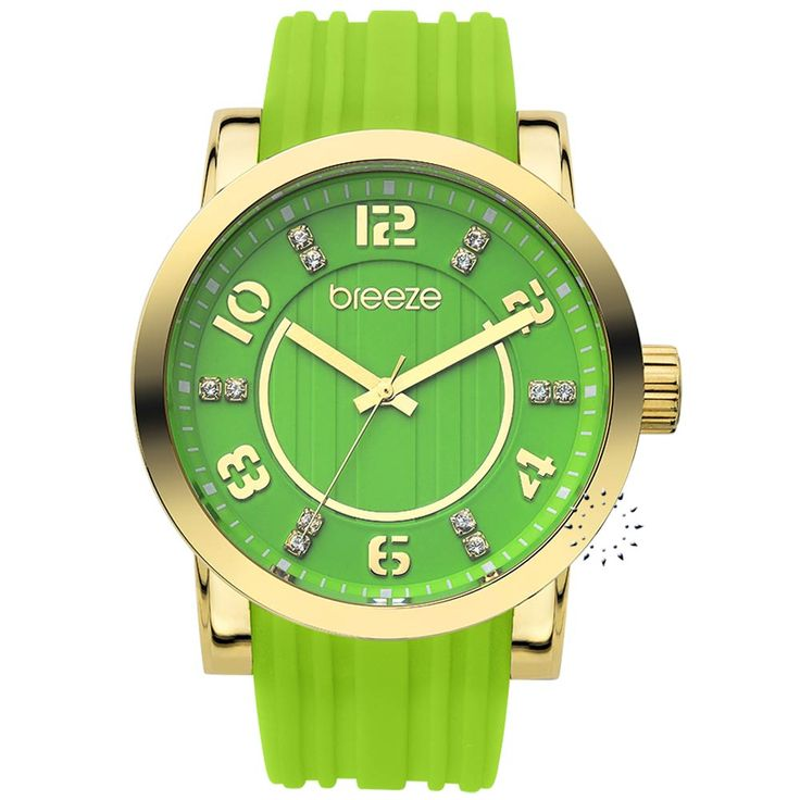 BREEZE Ocean Drive Green Rubber Strap Τιμή Προσφοράς: 106€ http://www.oroloi.gr/product_info.php?products_id=30529