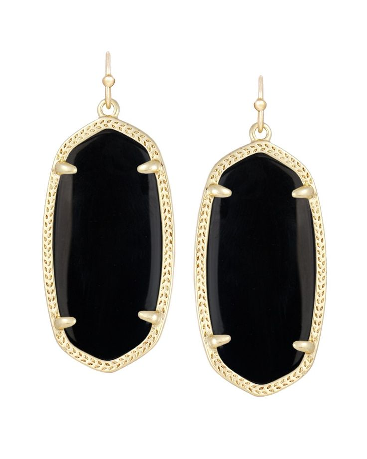 Elle Earrings in Black - Kendra Scott Jewelry Get 15% off for signing up for mailing list!