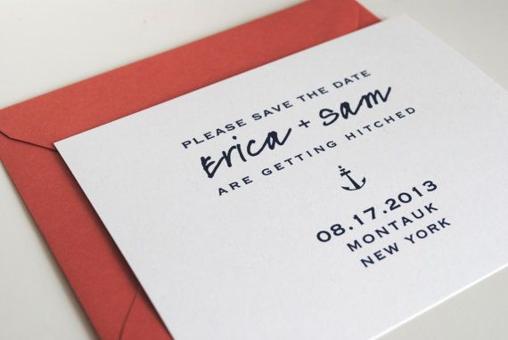 salty save the dates by jackandellapaper on Etsy, $1.25