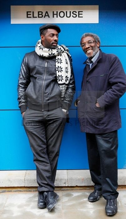 Idris Elba with his father Winston Elba during the opening of Elba  House, a new social housing development in Andre St, Hackney on 14th January 2011.