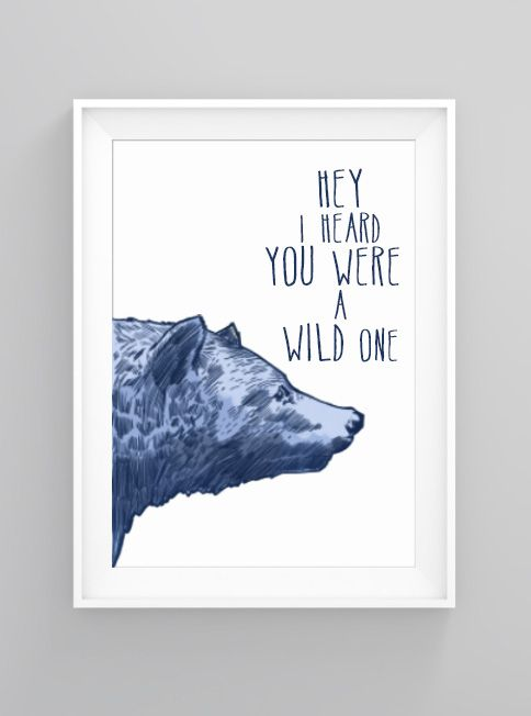 Wild one | print