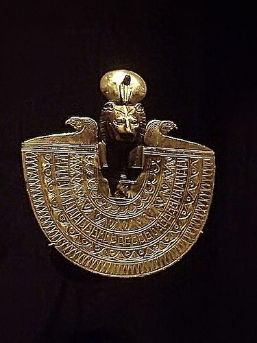 Cultic Ornament of a Lion-Headed Goddess Egypt Third Intermediate Period c 700 BCE Gold by mharrsch, via Flickr